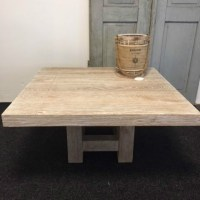 Eiken Salontafel White Wash.Salontafel Eiken Whitewash