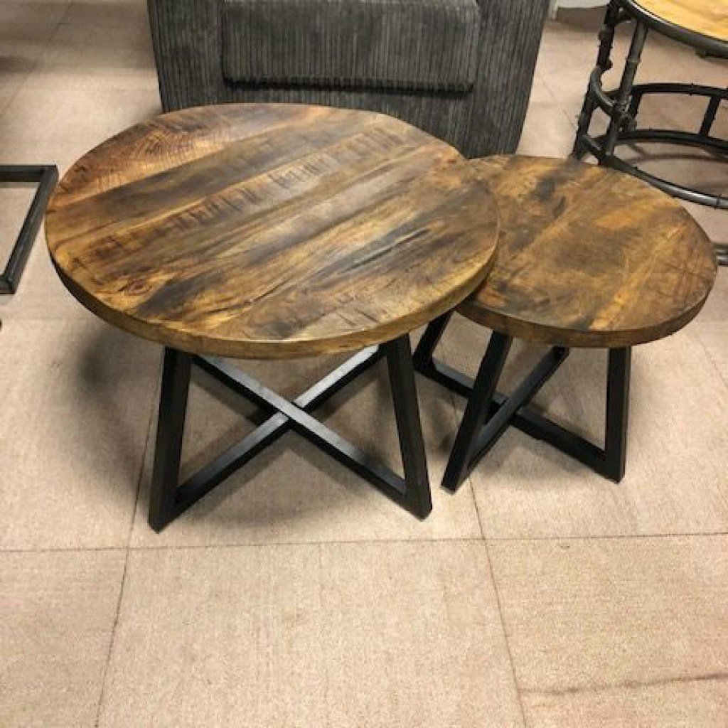Set Van 2 Salontafels.Sale Salontafel Mango Set